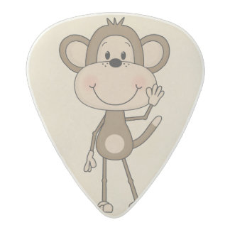Cute animated Monkey Acetal Guitar Pick