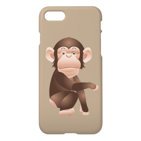 Cute animated monkey iPhone 8/7 case
