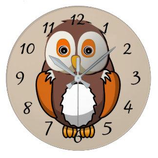 Cute animated Owl Clock