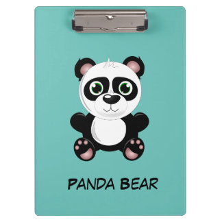 Cute animated Panda Bear Clipboards