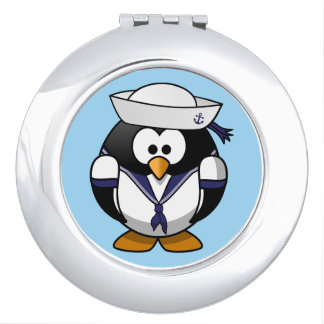Cute animated penguin sailorCar Mirrors For Makeup