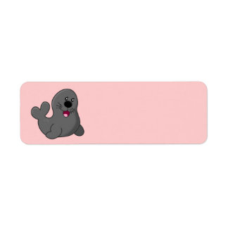 Cute animated Seal Return Address Label