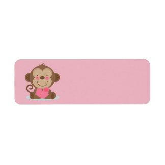 Cute Animated Valentine's Day Monkey