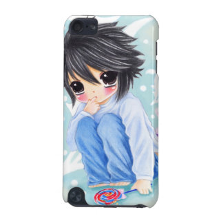 Cute anime boy with lollipop iPod touch (5th generation) case
