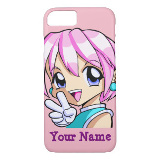 Cute Anime Girl iPhone 7 Case