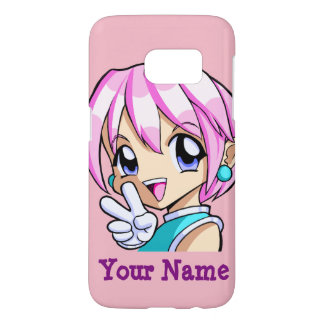 Cute Anime Girl Samsung Galaxy S7 Case