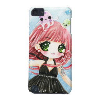 Cute anime girl with kawaii octopus iPod touch (5th generation) case