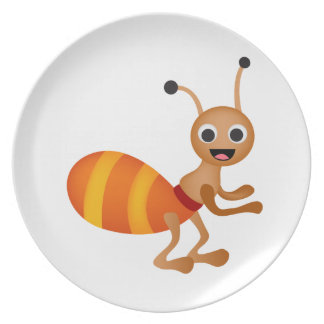 Cute ant party plates