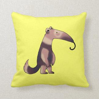 Cute anteater throw pillow