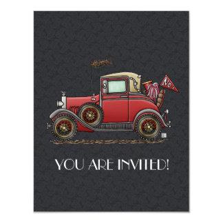 Cute Antique Car Card