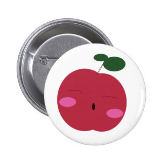 🍎Cute Apple ~ かわいいりんご. 2 Inch Round Button
