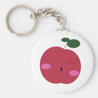 🍎Cute Apple ~ かわいいりんご. Basic Round Button Keychain