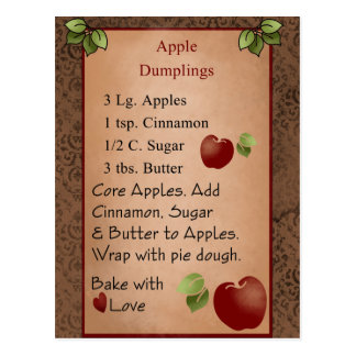 Cute Apple Dumplings Postcard