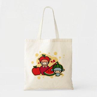 Cute apple watermelon and kawaii pet tote bag
