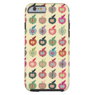 Cute Apples in Retro Style Tough iPhone 6 Case