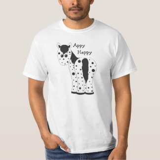 Cute Appy Happy Leopard Appaloosa Horse T-Shirt