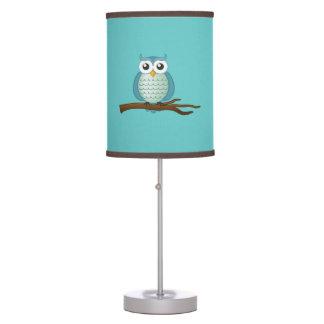 Cute Aqua Owls Table Lamp