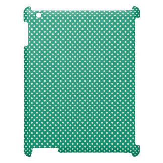 Cute Aqua Polka Dot Case Savvy Matte iPad Case