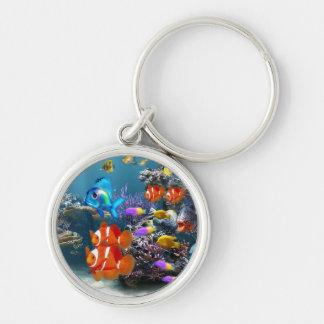 cute aquarium fish keyring