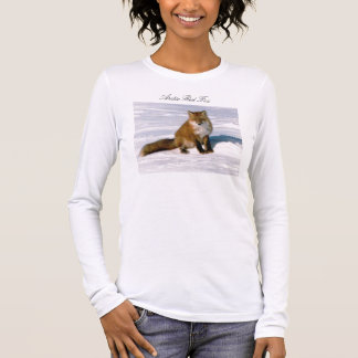 Cute Arctic Red Fox Long Sleeve T-Shirt