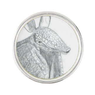 Cute Armadillo illustration Lapel Pin