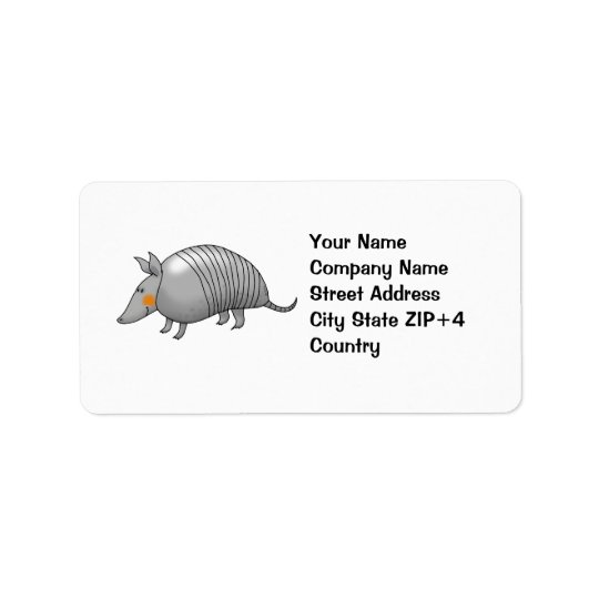 Cute armadillo label