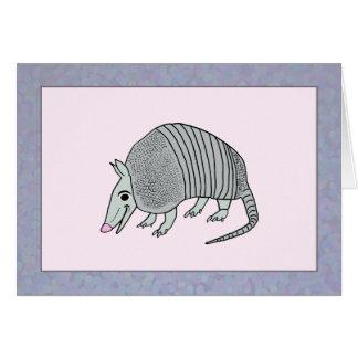 Cute Armadillo Thanks Card