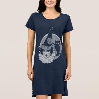 Cute Art Deco Witch Full Moon Owl Jack O Lantern Dress
