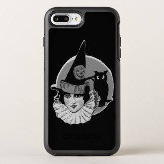 Cute Art Deco Witch Full Moon Owl Jack O Lantern OtterBox Symmetry iPhone 8 Plus/7 Plus Case
