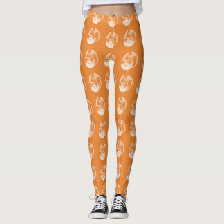 Cute Art Deco Witch Owl Full Moon Leggings
