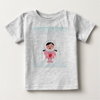 Cute artistic T-Shirt grey with Eskimo Kid