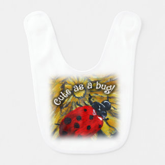 """Cute as a bug!"" Baby bib"