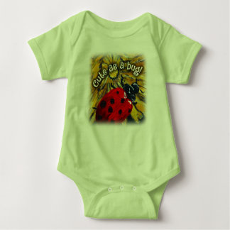"""Cute as a bug!"" baby jersey bodysuit"