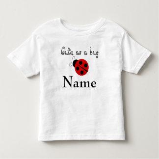 """""""Cute as a bug"""" Ladybug Custom Toddler Tee"""