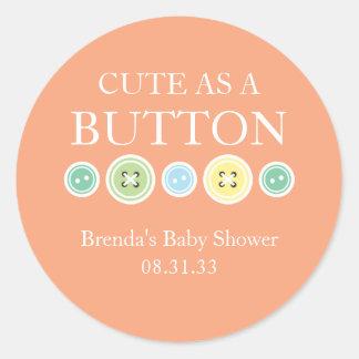 Cute as a Button Boy/Unisex Sticker