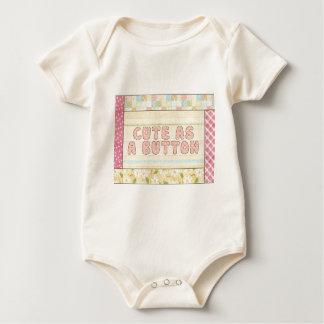 Cute as a Button Infant Organic Creeper