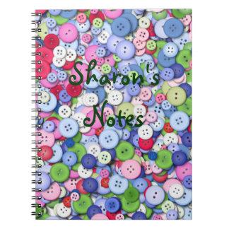 Cute as a button notebook