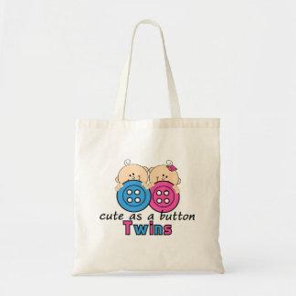 Cute As A Button Twin Girl & Boy Tote Bag