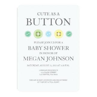 Cute as a Button Unisex Invitation