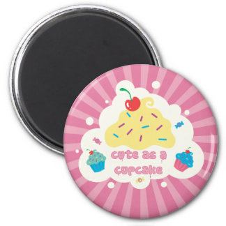 Cute As a Cupcake Magnet
