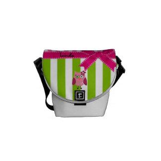 Cute as a Hoot! Polka dot & Stripes Mini Zero Bag Messenger Bag