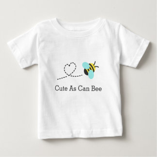 Cute as can bee, heart trail, for babies baby T-Shirt