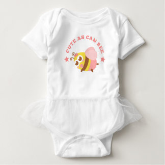 Cute As Can Bee Pun for Baby Girls Baby Bodysuit