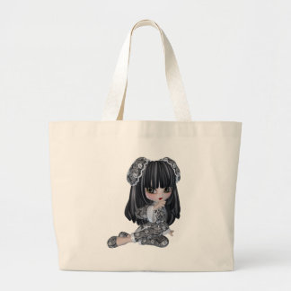 Cute Asian Girl Large Tote Bag