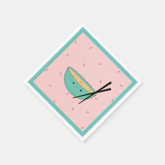 Cute asian ramen soup paper napkins