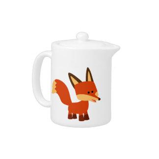 Cute Astute Cartoon Fox Teapot