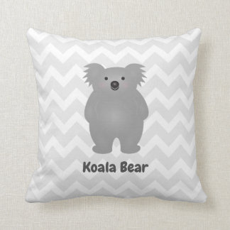 Cute Australia Baby Koala Bear Add Your Name Throw Pillow