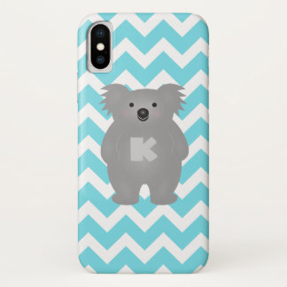 Cute Australia Baby Koala Bear Monogram iPhone X Case