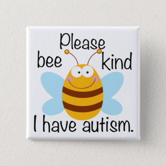 Cute Autism Pun 2 Inch Square Button