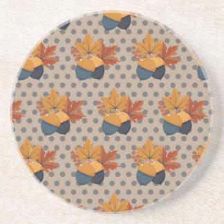 Cute Autumn Acorn Patterns Coasters